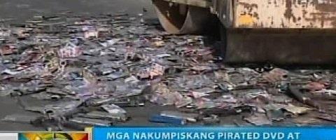 Mga tindahan ng piniratang DVD at CD sa Naga City, sinalakay ng mga otoridad